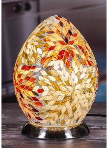 The Grange Collection Coloured Mosaic Egg Lamp