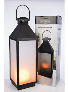 The Grange Collection Fire Effect Lantern Large