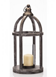 The Grange Collection Laura Wooden Lantern