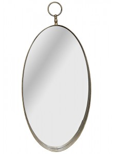 The Grange Collection Laura Round Mirror (Gold)
