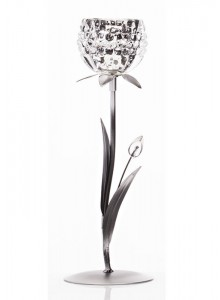 The Grange Collection 1 Glass Flower Candleholder