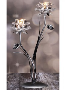 The Grange Collection 2-Glass Flower Candle Holder