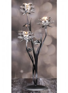The Grange Collection 3-Glass Flower Candle Holder