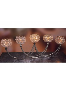 The Grange Collection Crystal 5-Tealight Holder