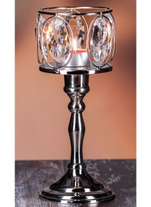 The Grange Collection Crystal Small Tealight Holder on Base