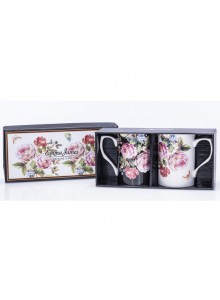 Emma James Bone China Rose Design Mugs