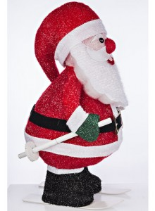 The Grange Christmas Santa Moving with Lights, 61cm