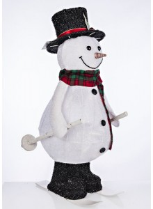 The Grange Christmas Snowman Moving with Lights, 61cm