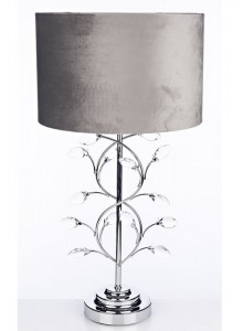 The Grange Collection Metal Lamp Cream Beads
