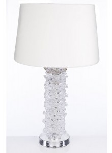 The Grange Collection Crystal Flowers Table Lamp