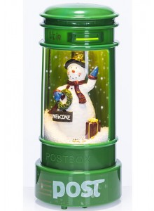 The Grange Christmas Snowing Postbox with Music & LED
