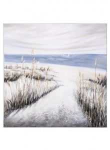 The Grange Collection Beach Hand-Painted Canvas