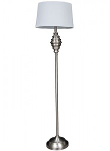 The Grange Collection Floor Lamp with Silver Base - 13x15x10