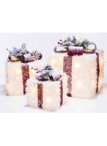 The Grange Christmas White Gift Box with LED