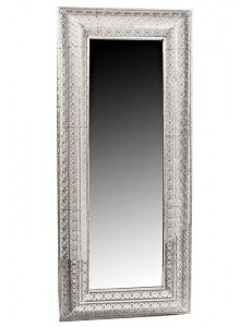 The Grange Collection Silver Metal Mirror 160x70