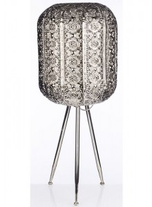 The Grange Collection Silver Metal Lamp