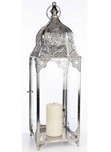 The Grange Collection Silver Metal Lantern