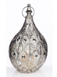 The Grange Collection Silver Metal Candle Holder