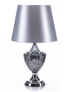 The Grange Collection Silver Mosaic Table Lamp