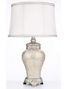 The Grange Collection Ivory Crackle Lamp