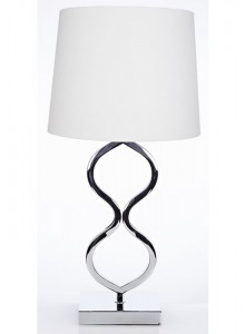 The Grange Collection 27-inch Chrome Table Lamp