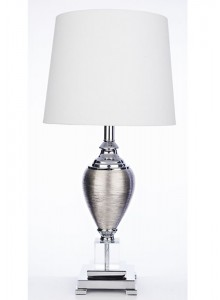 The Grange Collection 23-inch Glass Table Lamp