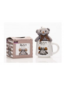 The Grange Collection Grey Teddy Mug