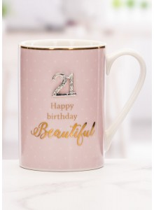 The Grange Collection 21 Happy Birthday Beautiful Mug