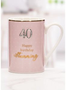 The Grange Collection 40 Happy Birthday Beautiful Mug