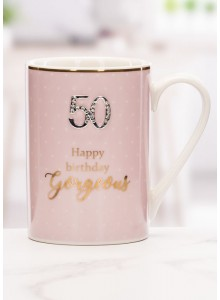 The Grange Collection 50 Happy Birthday Beautiful Mug