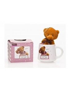 The Grange Collection Pink Teddy Mug