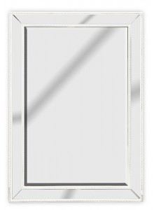 The Grange Collection Antique White Mirror - 74x104