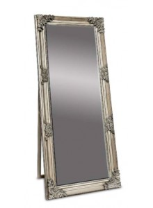 The Grange Interiors Antique Silver Cheval Mirror 70x170