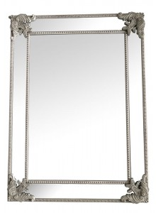 The Grange Interiors Antique Grey Mirror - 82x112cm
