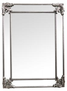 The Grange Interiors Antique Silver Mirror - 82x112cm