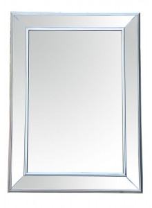 The Grange Collection Silver Bevelled Mirror 82x112cm