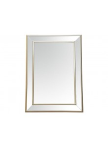 The Grange Collection Champagne Bevelled Mirror 82x112cm