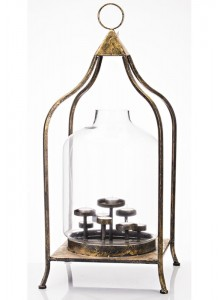 The Grange Collection Metal Lantern with Glass Large