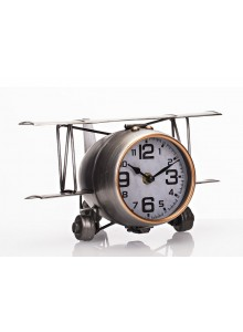 The Grange Collection Large Aeroplane Table Clock - 41x8x17cm