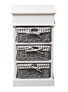 The Grange Collection 3-Drawer Laundry Basket - 38x28x69