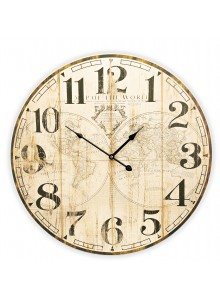 The Grange Collection World Map Wall Clock - 58cm