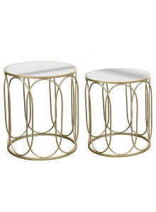 The Grange Collection Mirror Champagne Table, Set 2