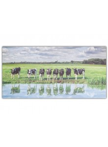 The Grange Collection Cow Canvas 60x120cm