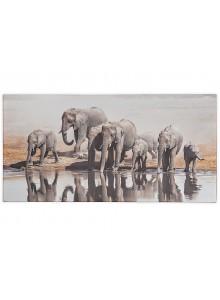 The Grange Collection Elephant Canvas 60x120cm
