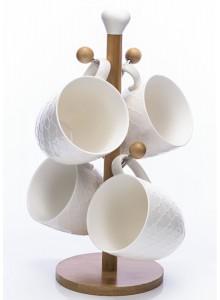 The Grange Collection Eden Mug Tree Set