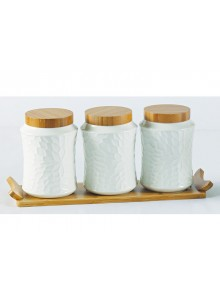 The Grange Collection Adele 3 Piece Canister Set