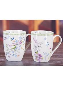Emma James Purple Flower Mugs - Set 4