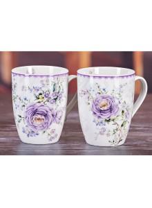 Emma James Pink Flower Mugs - Set 4