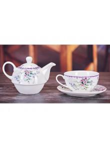 Emma James Pink Flower Tea for One