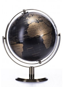 The Grange Collection Black/Gold Globe 20cm